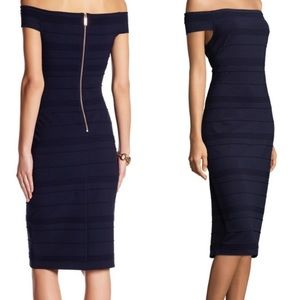 🆕NWT TED BAKER Bandage Midi Dress In Navy Blue